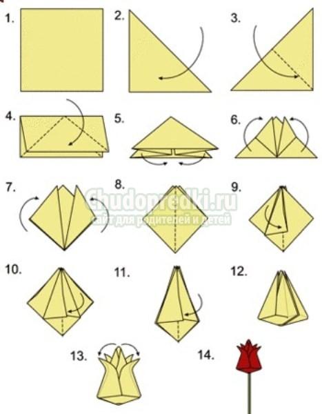 Оригами - схемы оригами из бумаги - как сделать оригами из