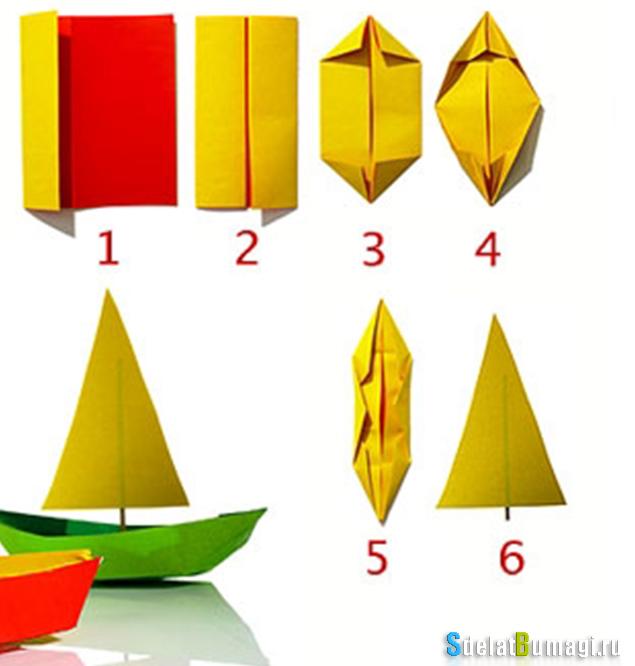 Как сделать кораблики из бумаги поэтапно 950