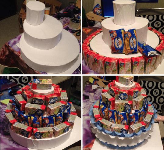 Как сделать детский торт из сока в детский сад, на День Рождения? 37