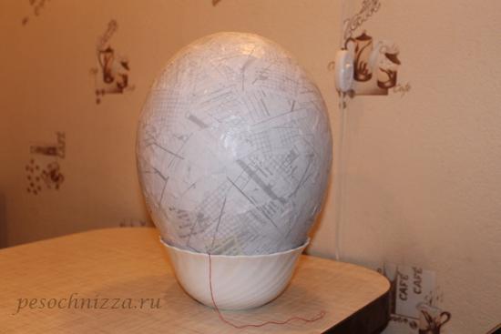 Киндер яйцо из папье-маше своими руками 76