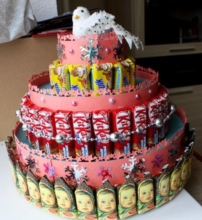Торт из шоколадок своими руками на день рождения ребенка