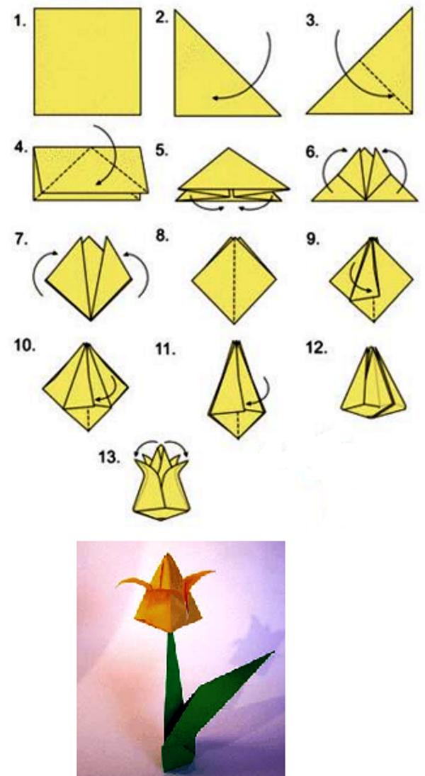 Простые поделки оригами для начинающих 474